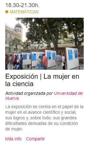 Exposición | La mujer en la ciencia #NIGHTSpain